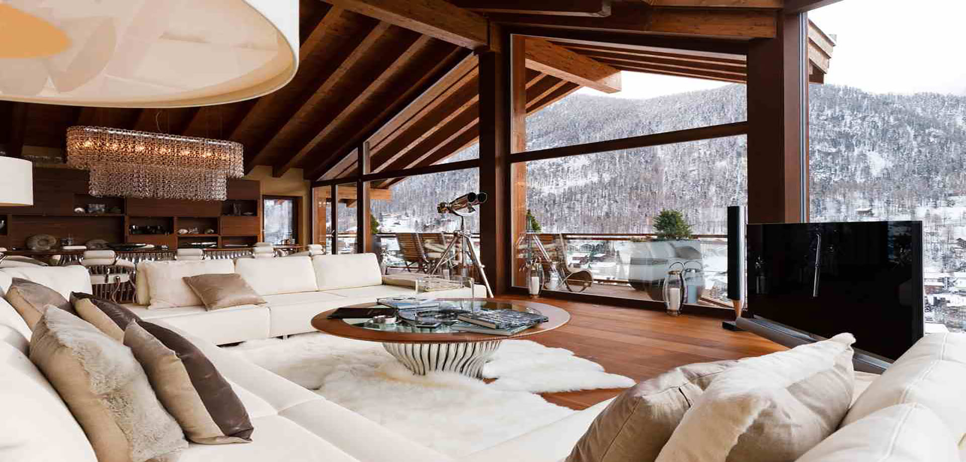 the best modern luxury ski chalets in the alps