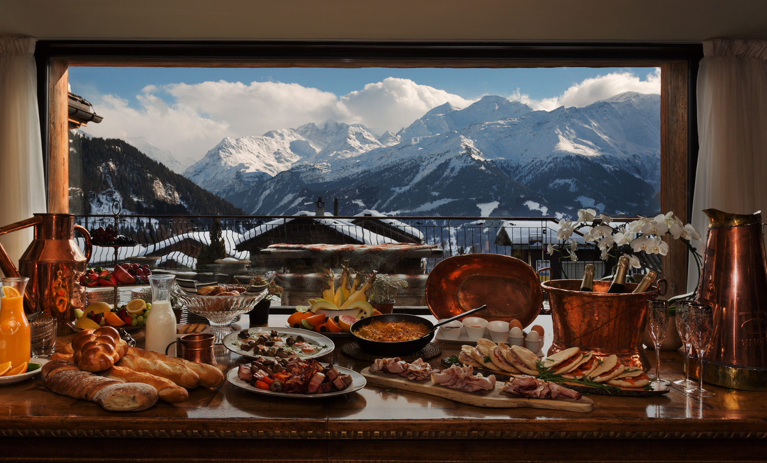 Breakfast at the best chalet in the world photo credit La Truffe Blanche