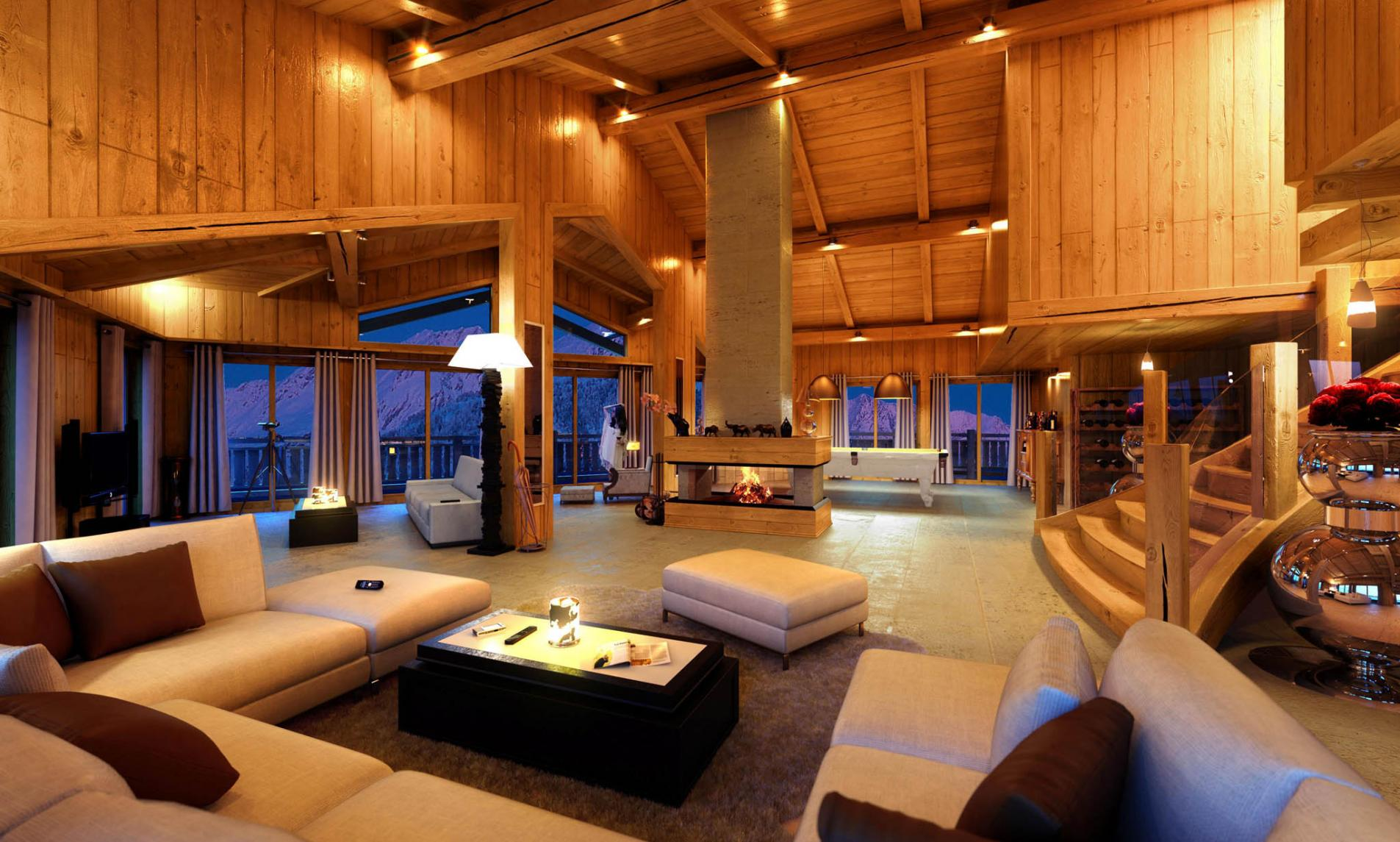 Luxury ski chalets specialise in finding you the perfect - Interieur chalet bois montagne ...